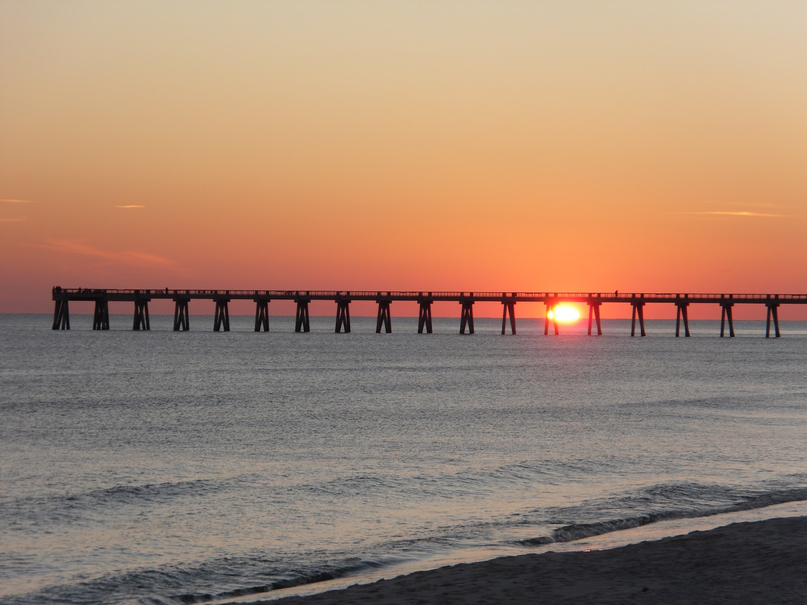 Rvfulltiminglove sunset at navarre beach for Navarre beach fishing pier