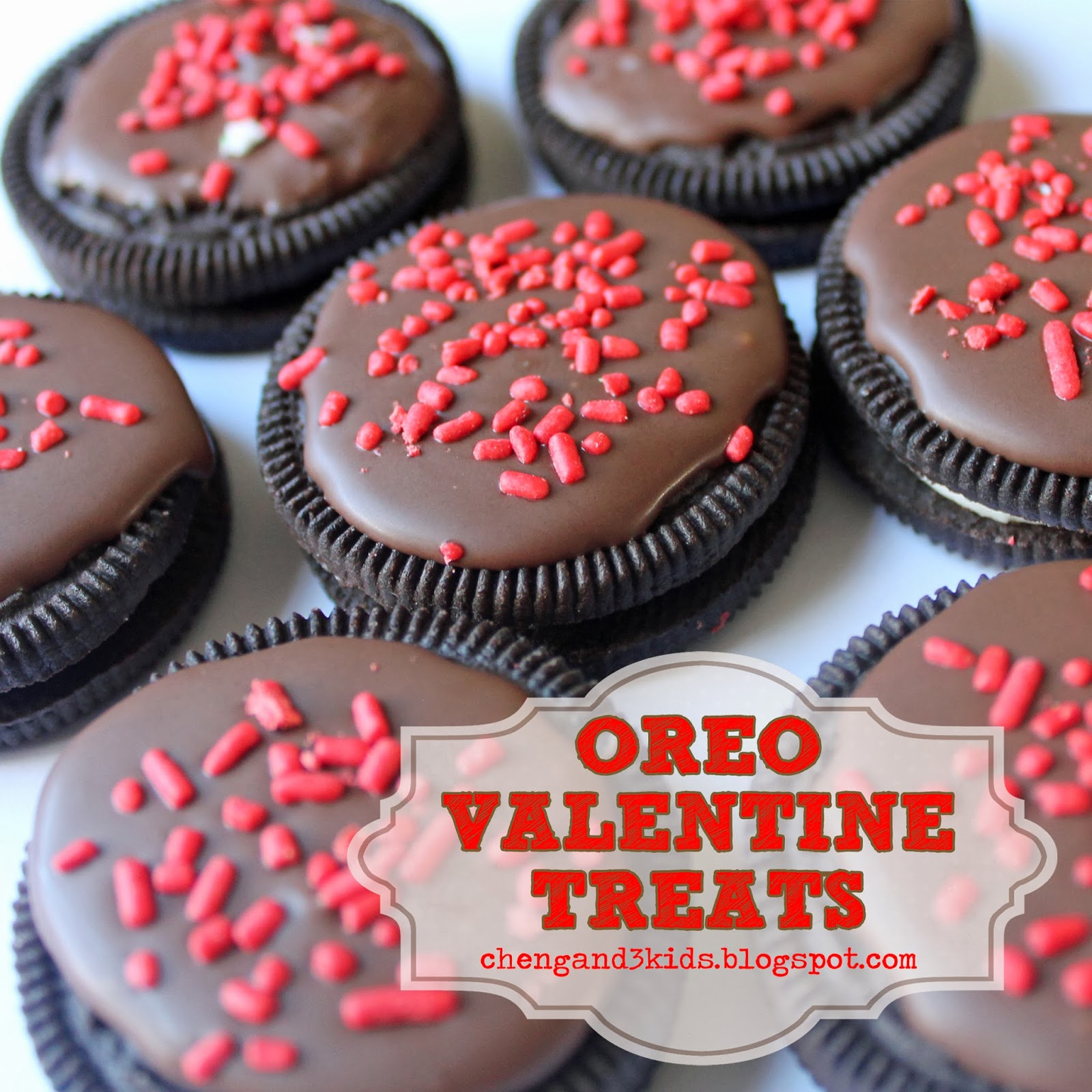 Oreo Valentine Treats by Cheng and 3 Kids