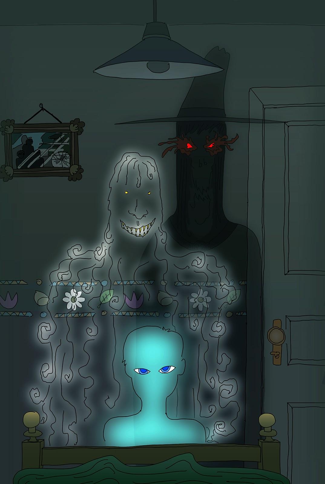 jppr+: Dibujo - Visitantes de dormitorio (28/11/2013)