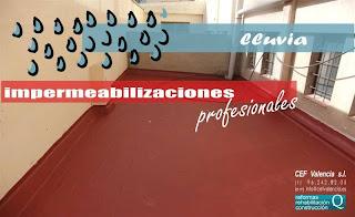 Impermeabilizaciones profesionales en Valencia