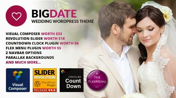 Big Date - Wedding WordPress Theme