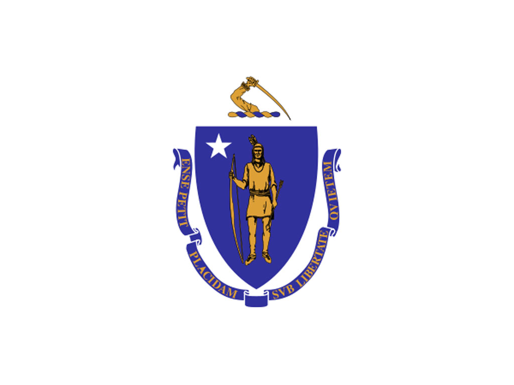 State Flag Of Massachusetts Usa American Images