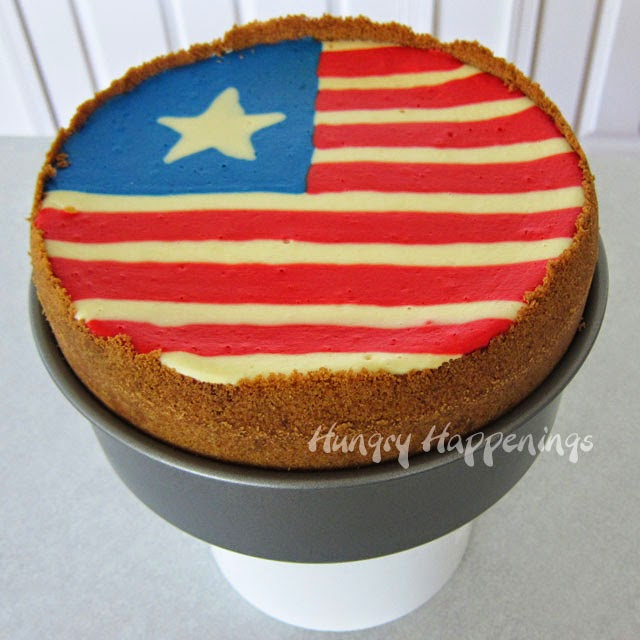 Fourth of July Flag Cheesecake