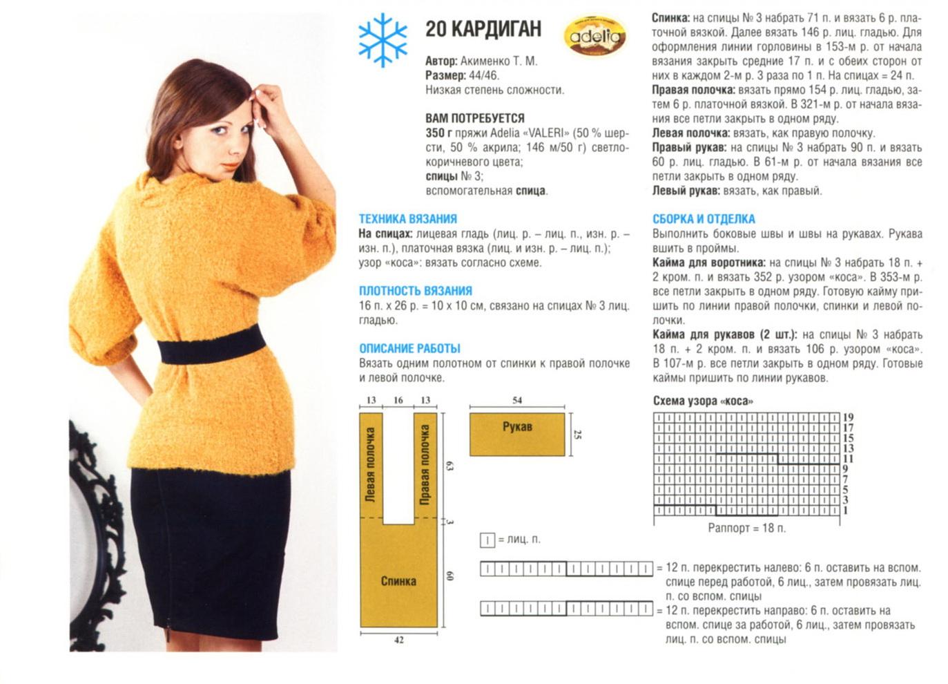 Вязание рукава спицами для кардигана 35