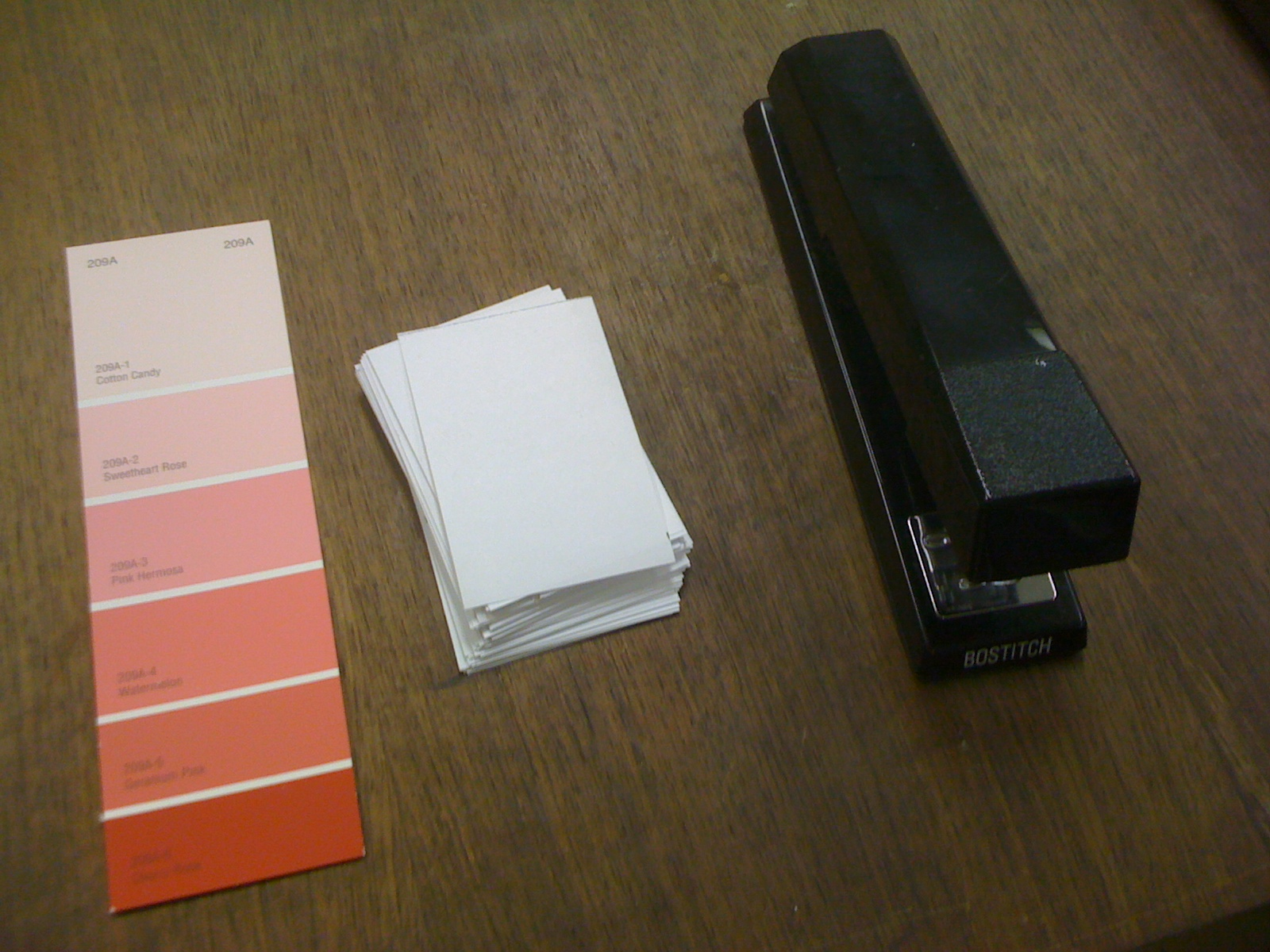 remodel this house paint chip business cards diy
