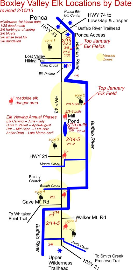 February 15, 2013 Elk Herd Map