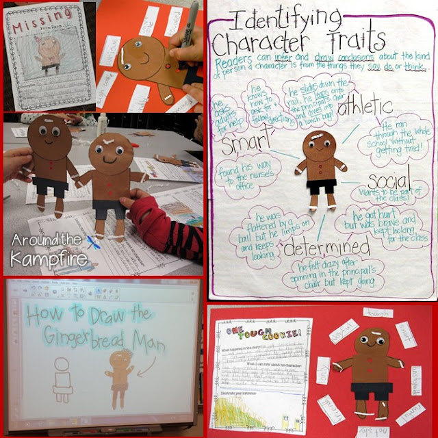 The Gingerbread Man Loose in the School reading activities