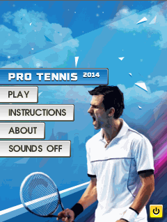Pro tennis 2014 - Java touchscreen game,games for touchscreen mobiles