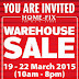 19 - 22 March 2015 Home Fix Warehouse Sale