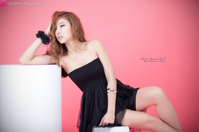 4 Cheon Bo Young in Black-very cute asian girl-girlcute4u.blogspot.com