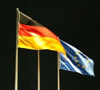 Banderas de la UE y Alemania