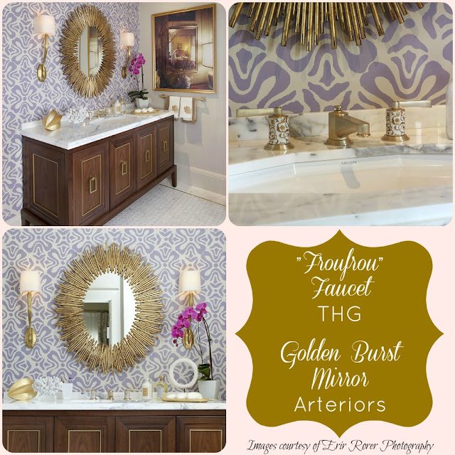 golden burst mirror by arteriors