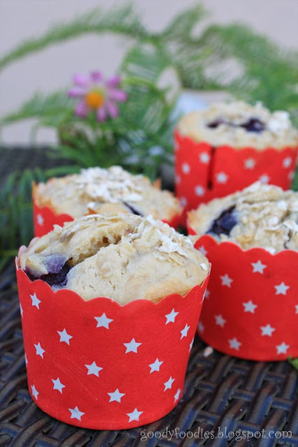 Blueberry Oat Muffin Mug Cake