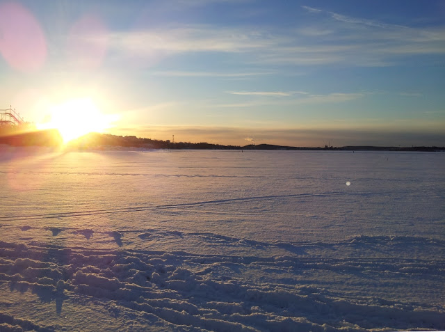 View over the lake Näsijärvi in winter via Vintage Follies