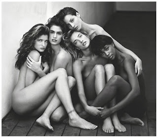 Stephanie Cindy Christy Tatjana Naomi fotografiadas por Herb Ritts