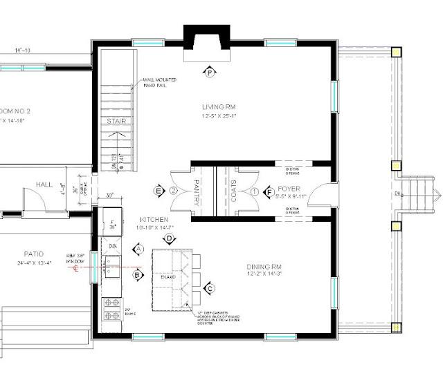 Straight Line Kitchen Layout: CREED: Cottage Bungalow: Kitchen