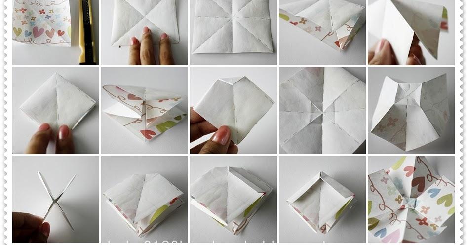 tutorial origami ribbon bow handmade