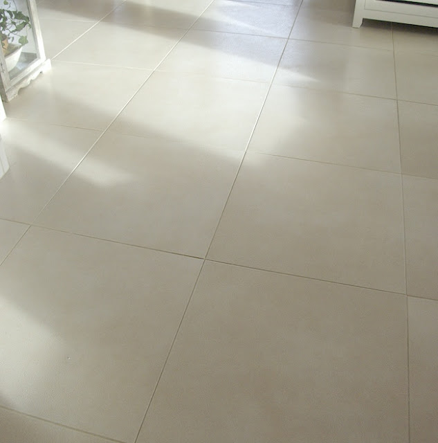 white big tiles floor