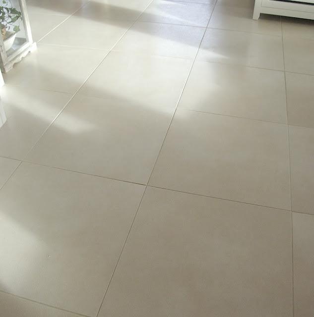 white big tiles floor
