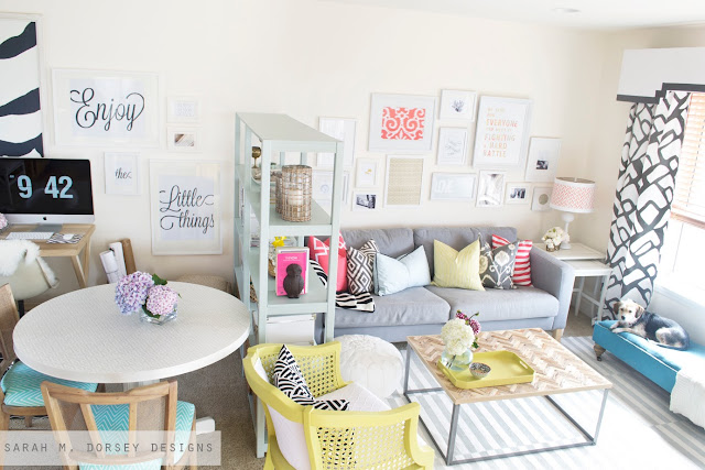 It 39 s eclectic boogie oogie oogie sarah m dorsey designs for S carey living room tour