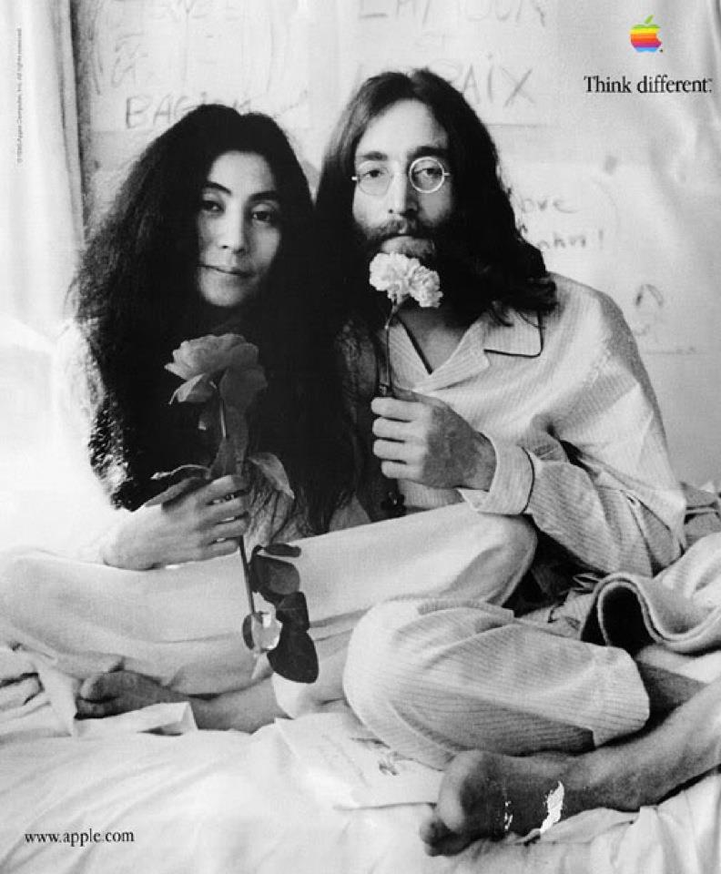 John Lennon And Yoko Ono Bed In Think Different | Traf...