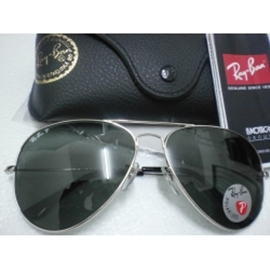 ray ban aviator sunglasses silver frame black lens  ray ban aviator polarized silver frame, black lens