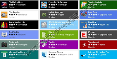 Windows 8 Mağaza
