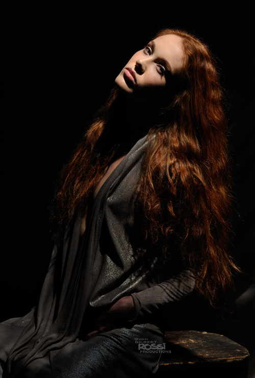 sydney fashion photographer gilbert rossi shoots modelling portfolio of redhead model, redhead monique wright shot in studio by gilbert rossi for her modelling portfolio, advertising photographer gilbert rossi shoots redhead model