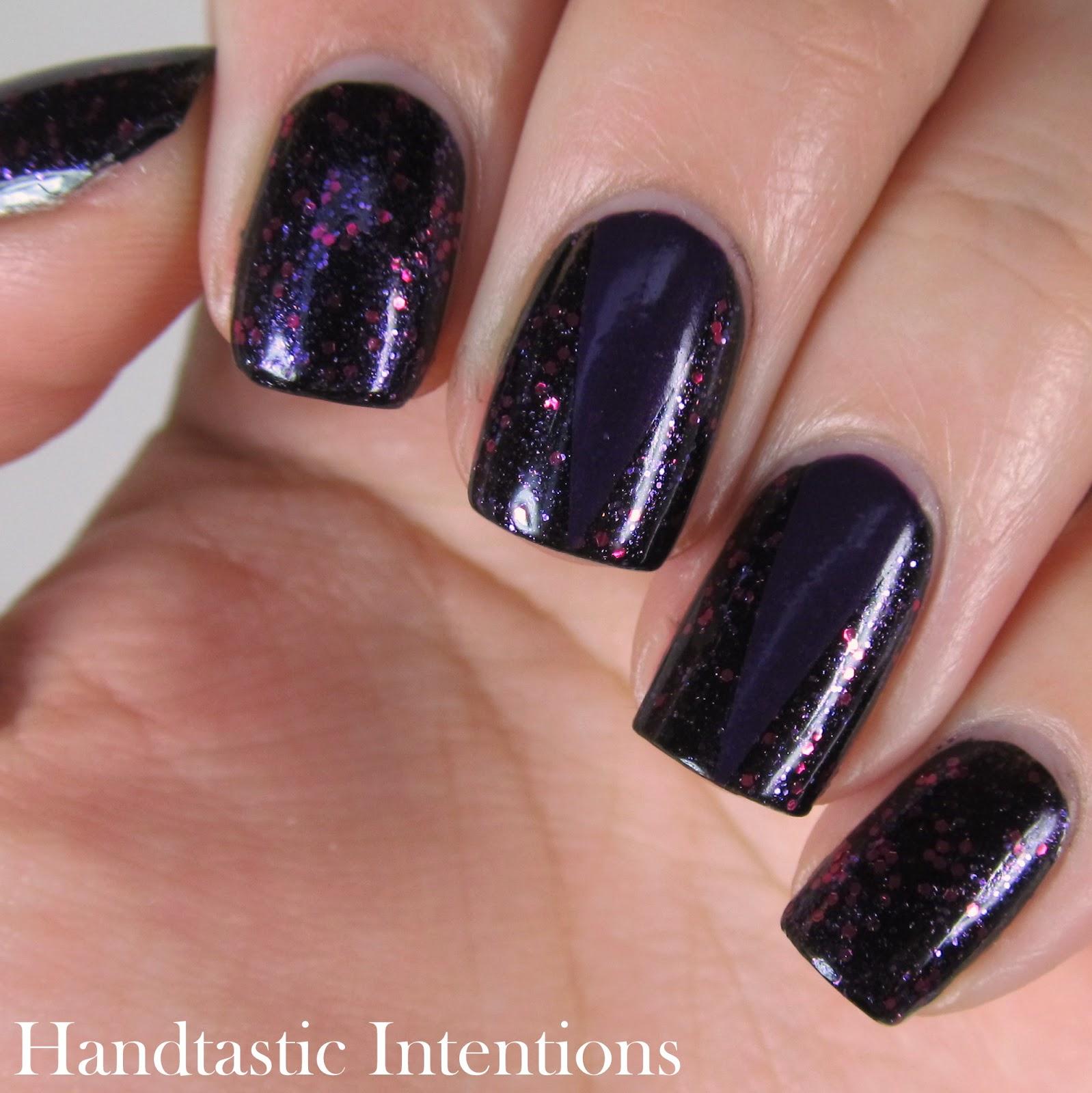 Dark Purple Nail Art - Handtastic Intentions: Dark Purple Nail Art
