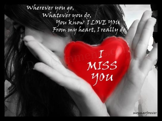 i miss u quotes for him miss