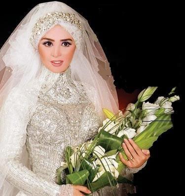 صور فساتين زفاف المحجبات اجمل فساتين