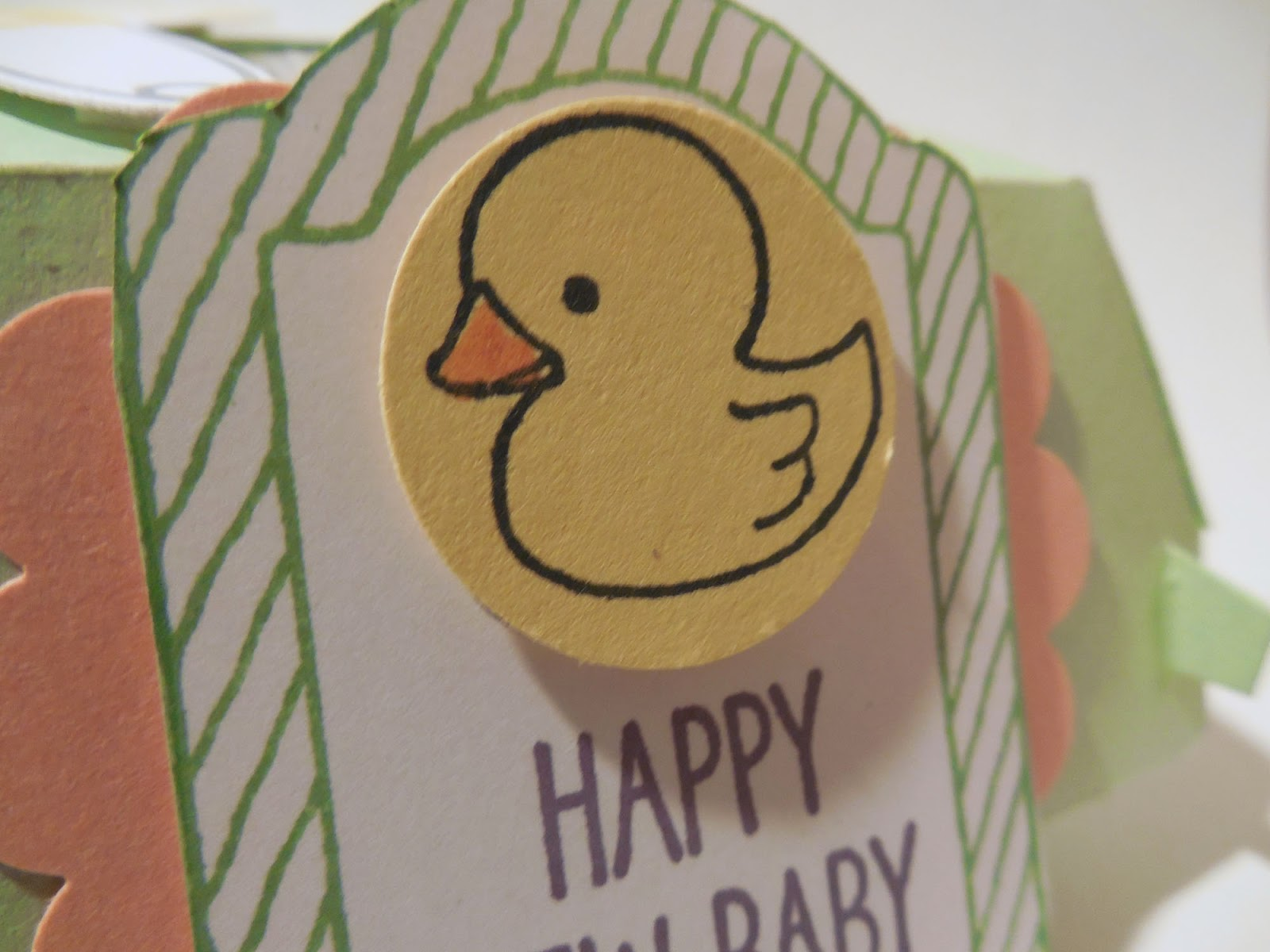 Baby Gift or Shower Favor made with Stampin'UP!'s Hamburger Box Die