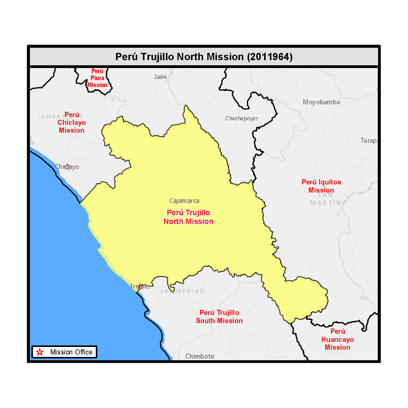 Map - Peru Trujillo North Mission