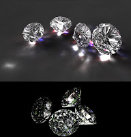 Photo realistic brilliant cut diamond in Maya