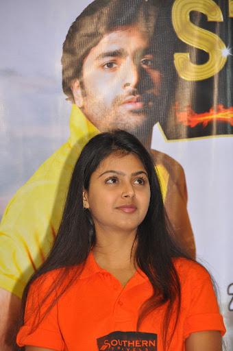 Cute Telugu Actress Monal Gajjar at Super Starlet Cup Pm