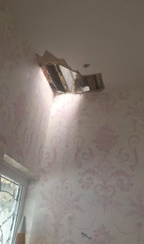 OMG! See How This Lady Escape Death In Her Bed Room [ Photos ]