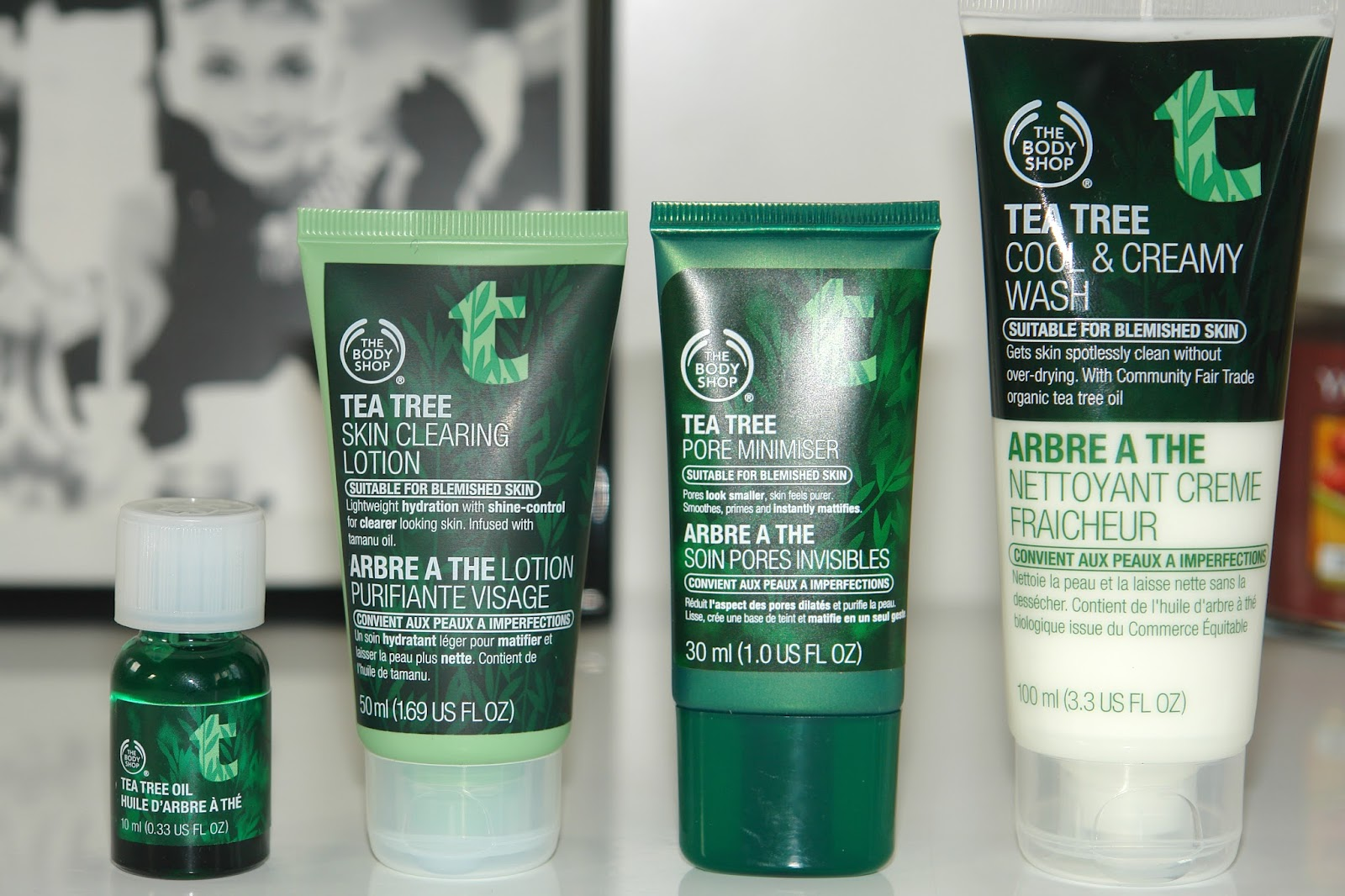 The Body Shop Tea Tree range, beauty, review, skincare, The Body Shop, The Body Shop Tea Tree Oil, The Body Shop Tea Tree Skin Clearing Lotion, The Body Shop Tea Tree Pore Minimiser, The Body Shop Tea Tree Cool & Creamy Wash, UK beauty blog