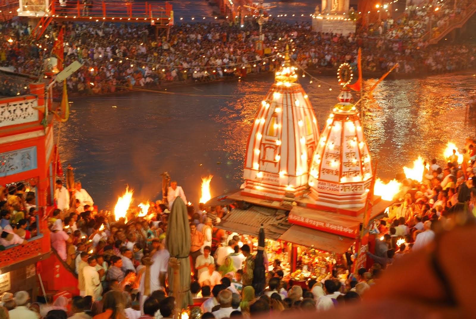 Haridwar Hindu Pilgrim HD Wallpaper For Desktop HD