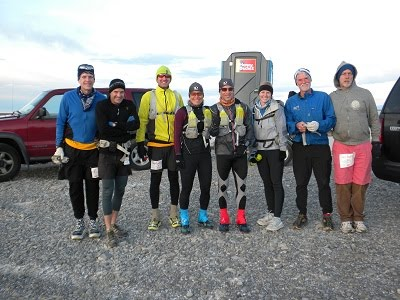 The cast of characters, ready to run on the Salt Flats