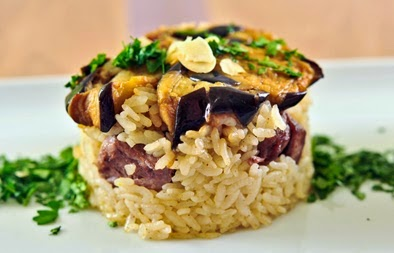Upside Down Rice, Meat and Vegetables