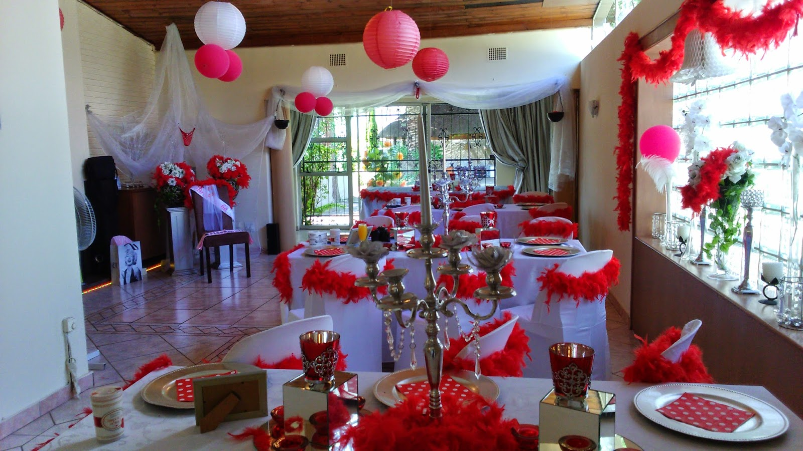 Boutique venue with full setups and halaal catering for African party decoration ideas