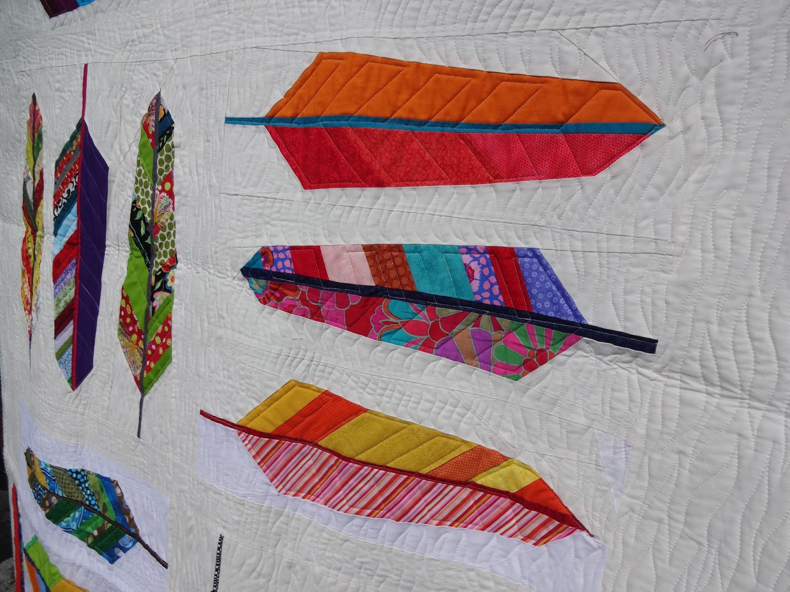 Beccas Crazy Projects Modern Feathers The Finished Quilt