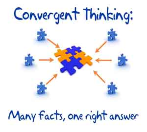 compare and contrast convergent and divergent thinking essay