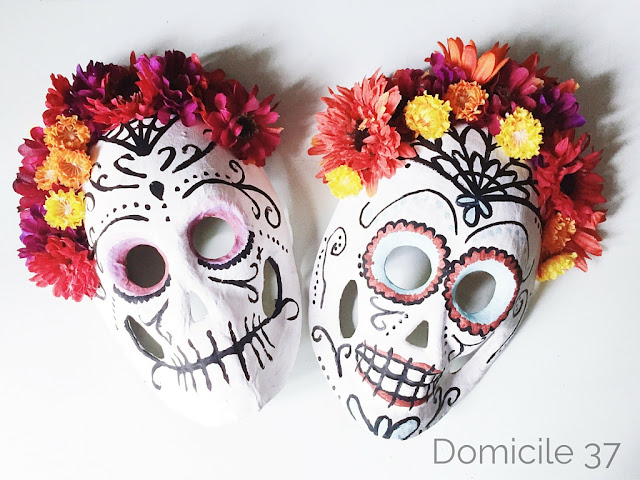 Day of the Dead Sugar Skull Mask Flowers Halloween Masquerade Full Face Mask New