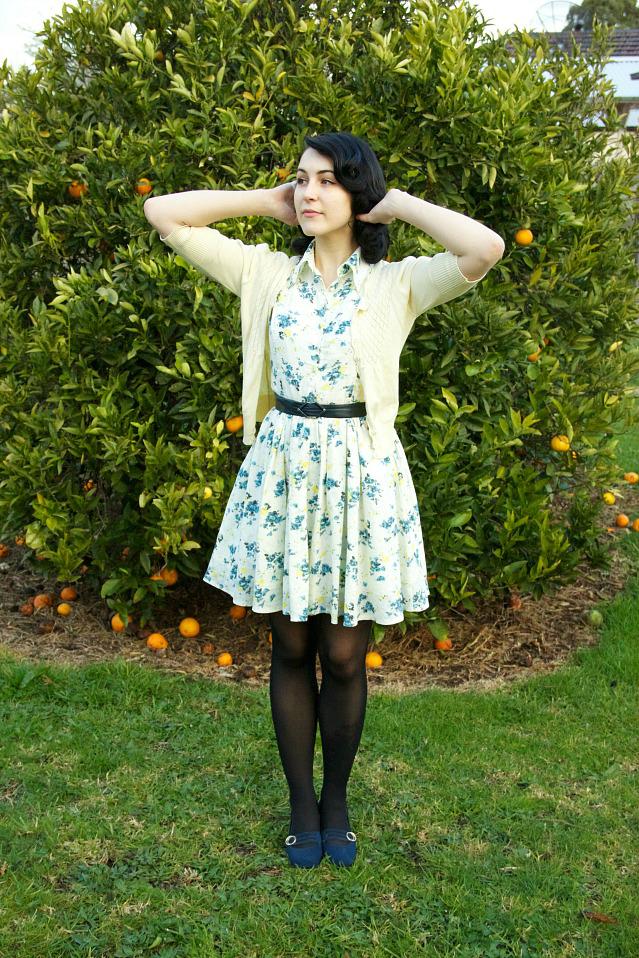 vintage revival floral dress