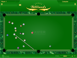 capture d'écran du jeu Billiards