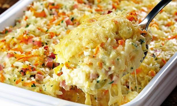 #receita de #arroz de #forno #cremoso