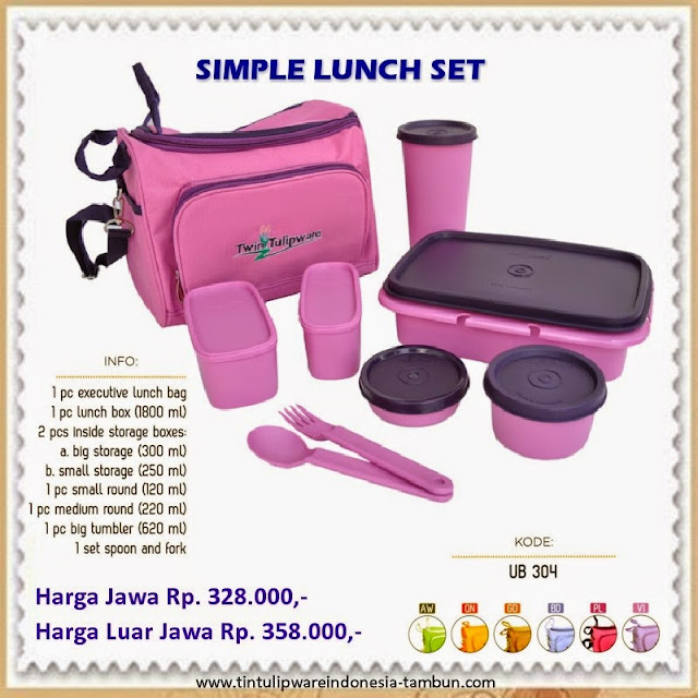 Simple Lunch Set Tulipware 2013
