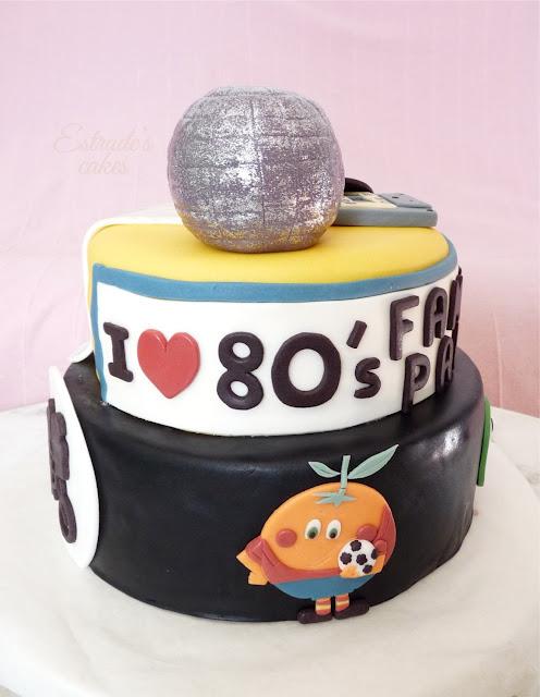 Tarta de los 80 con fondant - 1