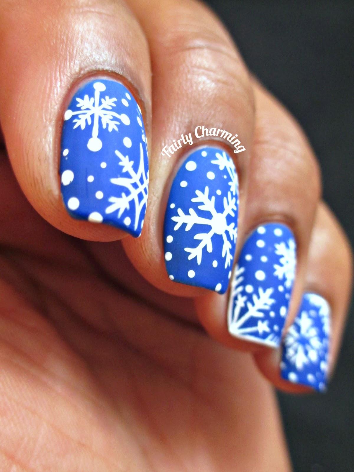 Christmas Snowflake Nail Designs